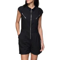 Vêtements Femme Combinaisons / Salopettes Kaporal Combishort à zip Noir