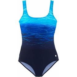 Vêtements Femme Maillots de bain 1 pièce Lascana Maillot de bain 1 pièce Batik Bleu