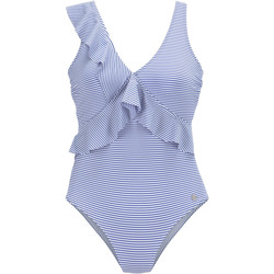 Vêtements Femme Maillots de bain 1 pièce Lascana Maillot de bain 1 pièce multipositions à volants bleu marine Bleu Marine