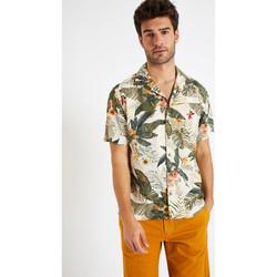 Vêtements Homme Chemises manches courtes Cala STEFANO KEALIA ECRU
