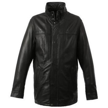 Vêtements Homme Vestes en cuir / synthétiques Oakwood Veste en cuir Hills  ref_47190 Noir noir