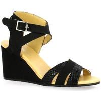 Chaussures Femme Sandales et Nu-pieds So Send Nu pieds cuir python Noir