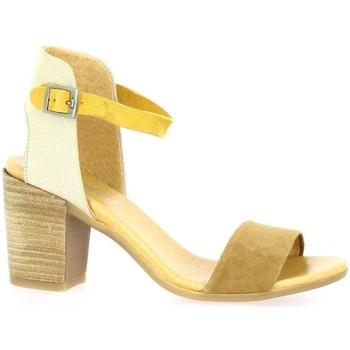Chaussures Femme Sandales et Nu-pieds So Send Nu pieds cuir velours  / Camel/or