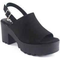 Chaussures Femme Sandales et Nu-pieds Emmshu Dame   alesae noir Noir