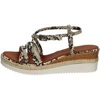 Chaussures Femme Sandales et Nu-pieds Porronet FI2596 BLANC ET NOIR