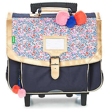 Sacs Fille Sacs / Cartables à roulettes Tann's INES TROLLEY CARTABLE 38CM Marine / Rose