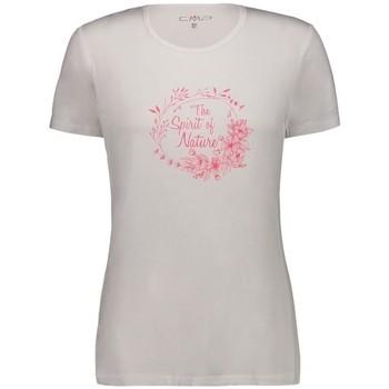 Vêtements Femme T-shirts manches courtes Cmp W TSHIRT BIANCO GLOSS FEMME 2020 Unicolor