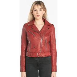 Vêtements Femme Vestes en cuir / synthétiques Rose Garden POPPY LAMB SANDY RED CHILI PEPPER Rouge