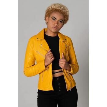 Vêtements Femme Vestes en cuir / synthétiques Rose Garden BONITA SHEEP SANDY YELLOW Jaune