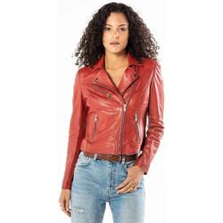 Vêtements Femme Vestes en cuir / synthétiques Rose Garden BONITA SHEEP SANDY RED Rouge