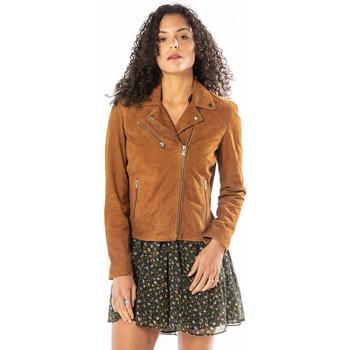 Vêtements Femme Vestes en cuir / synthétiques Rose Garden BONITA SHEEP SANDY COGNAC Cognac
