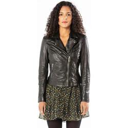 Vêtements Femme Vestes en cuir / synthétiques Rose Garden BONITA SHEEP SANDY BLACK Noir