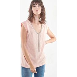 Vêtements Femme Débardeurs / T-shirts sans manche Le Temps des Cerises TSHIRT F CHRIS PEACH Pêche