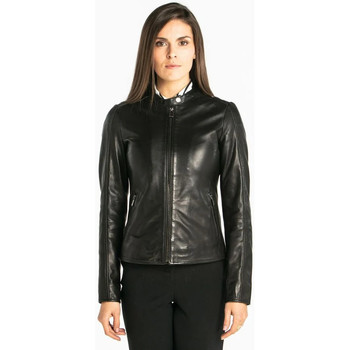 Vêtements Femme Vestes en cuir / synthétiques Daytona MALIANG LAMB RUBY MANILA BLACK Noir