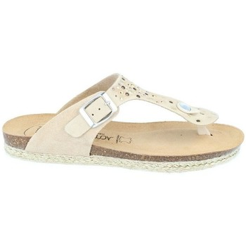 Chaussures Femme Tongs Amoa Sandales Gaujac à enfiler BEIGE