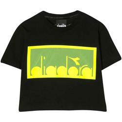 Vêtements Garçon T-shirts & Polos Diadora - T-shirt nero 022784-110 NERO