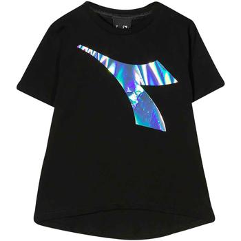 Vêtements Garçon T-shirts & Polos Diadora - T-shirt nero 022822-110 NERO