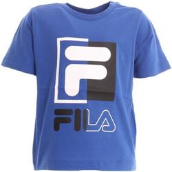 Vêtements Garçon T-shirts & Polos Fila - T-shirt azzurro 688049-088