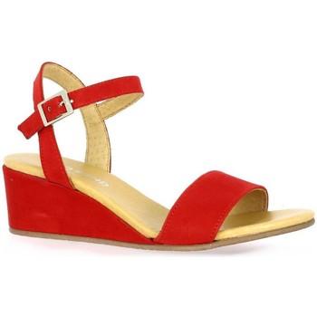 Chaussures Femme Sandales et Nu-pieds So Send Nu pieds cuir velours rouge