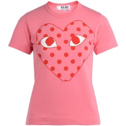 Vêtements Femme T-shirts manches courtes Comme Des Garcons T-Shirt pour femme  rose avec un cœur Rose