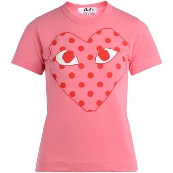 Vêtements Femme T-shirts manches courtes sages femmes en Afriques T-Shirt pour femme  rose avec un cœur Rose