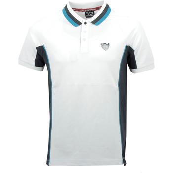 Vêtements Homme Polos manches courtes Ea7 Emporio Armani Polos EA7 Emporio Blanc