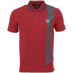 Vêtements Homme Polos manches courtes Ea7 Emporio Armani Polo EA7 Emporio Rouge