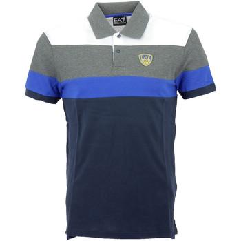Vêtements Homme Polos manches courtes Ea7 Emporio Armani Polos EA7 Emporio Bleu