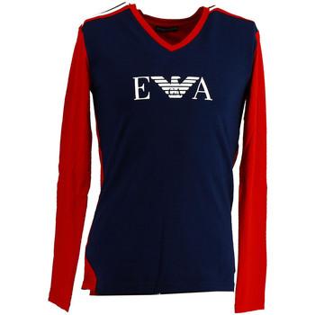 Vêtements Homme T-shirts manches longues Ea7 Emporio Armani Tee-shirt EA7 Bleu
