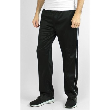 Vêtements Homme Pantalons de survêtement Kebello Jogging satiné H Noir Noir