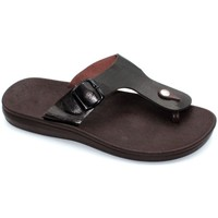 Chaussures Homme Tongs Kebello Sandales confort Taille : H Marron 40 Marron