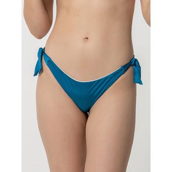 Vêtements Femme Maillots de bain séparables Luna Bas maillot de bain brésilien à nouettes Homonoia Bleu