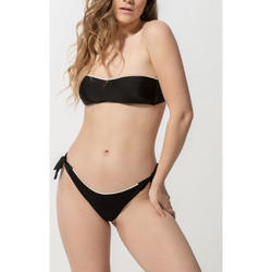 Vêtements Femme Maillots de bain séparables Luna Bas maillot de bain brésilien à nouettes Homonoia Noir