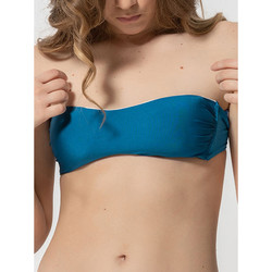 Vêtements Femme Maillots de bain séparables Luna Haut maillot de bain bandeau coques amovibles Homonoia Bleu