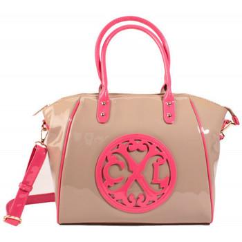 Sacs Femme Cabas / Sacs shopping Christian Lacroix Sac Cabas Jonc 4 Taupe/Rose