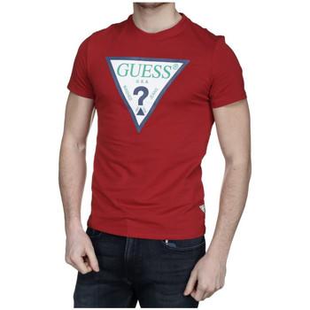 Vêtements Homme T-shirts manches courtes Guess T-Shirt Homme  CLUB Rouge M92I24 (rft) Rouge