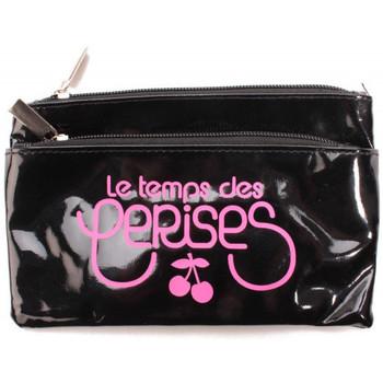 Sacs Femme Trousses Le Temps des Cerises Trousse Rumba 17 Noir/Rose Fluo 38