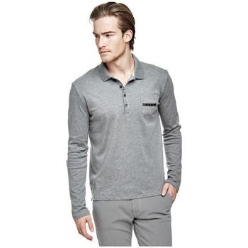 Vêtements Homme Polos manches longues Guess Polo Homme Manches Longues M64P21 Rufo Gris (rft)