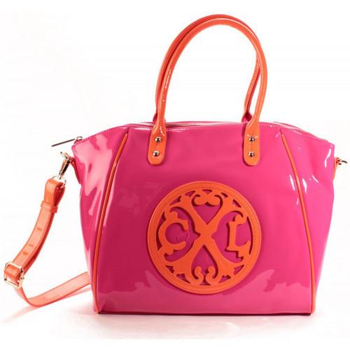 Sacs Femme Cabas / Sacs shopping Christian Lacroix Sac Cabas Jonc 4 Fushia/Orange Rose