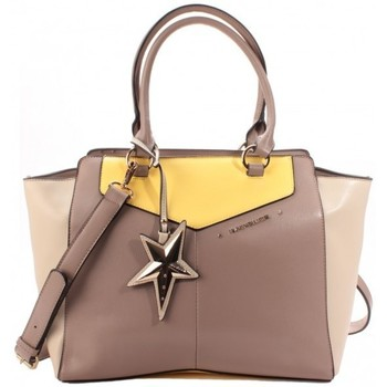 Sacs Femme Cabas / Sacs shopping Thierry Mugler Sac Cabas Angie 1 Taupe/Mastic/Citron Multicolore