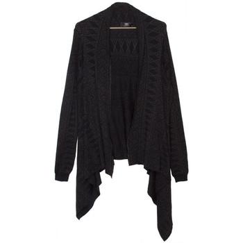 Vêtements Femme Gilets / Cardigans Le Temps des Cerises Cardigan Femme Comete Black (rft) 38