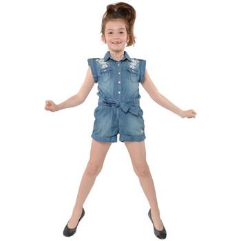 Vêtements Enfant Combinaisons / Salopettes Kaporal Combishort Fille IBOJI denim