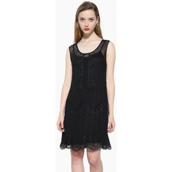 Vêtements Femme Robes courtes Desigual Robe Bernice Noir 17WWVK69 (rft) 38