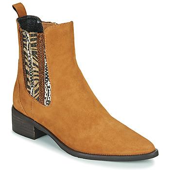 Chaussures Femme Boots Regard BASTIA V3 VEL HAVANE Marron