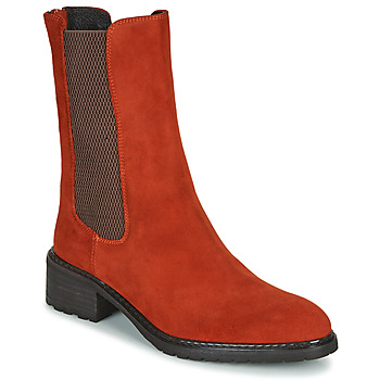Chaussures Femme Boots Regard DAMGAN V2 VELOURS CHATAIGNE Rouge
