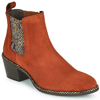 Chaussures Femme Bottines Regard NOISY V3 VELOURS TUILE Rouge