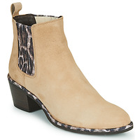 Chaussures Femme Bottines Regard NOISY V7 VELOURS SAFRAN Beige