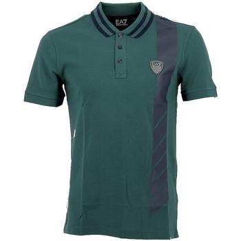Vêtements Homme Polos manches courtes Emporio Armani EA7 Polo EA7 Emporio Vert