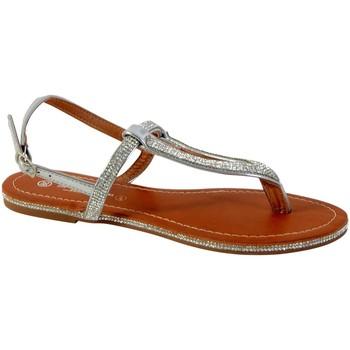 Chaussures Femme Sandales et Nu-pieds The Divine Factory Sandale Femme Argent