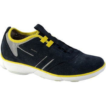 Chaussures Homme Baskets basses Geox Basket U Nebula B - Suede Navy Yellow